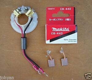 Autentico-Makita-18V-Porta-Spazzole-amp-Set-Cb440-Fit-DTD146-BTW152-Nuovo