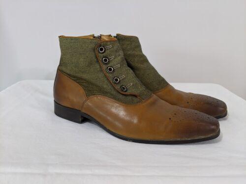 Reproduction 1920's Men's Spat Boots Button Boots