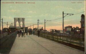 Brooklyn-New-York-City-Bridge-Promenade-c1910-Postcard
