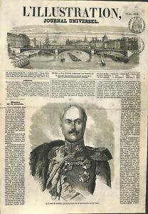 Paul Dimitrievitch comte de Kisselev ambassadeur de Russie ILLUSTRATION 1856 - France - Paul Dimitrievitch Count of Kisselev of Russia Russian Ambassador to France/Paul Dimitrievitch Conte di Kisselev, ambasciatore russo in Francia France ATTENTION,QUE LA COUVERTURE, PAS LE JOURNAL ENTIER. Just the cover, not newspaper. ANTIQUE PRIN - France