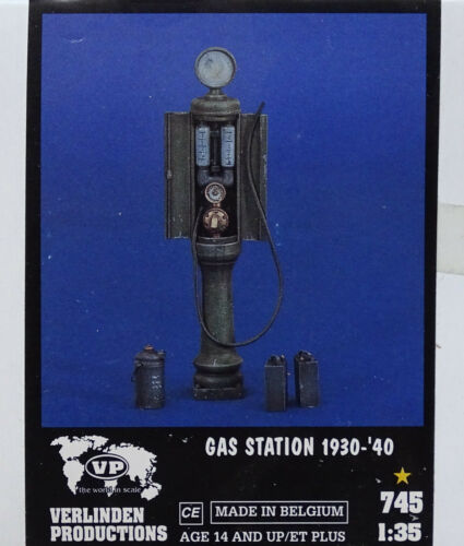 VERLINDEN PRODUCTIONS #745 Gas Station 1390-1940 in 1:35