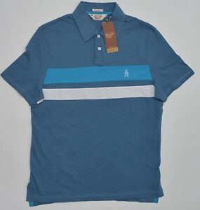 12d37fd062f4 Men s PENGUIN Blue White Polo Shirt Small S NWT NEW Beautiful ...