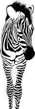 Baby Zebra  Standing Vinyl Wall decal