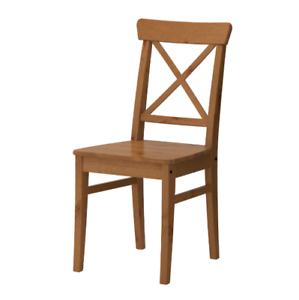 Beau Das Bild Wird Geladen IKEA INGOLF Stuhl Antikbeize Kuechenstuhl Massivholz  Holzstuhl Stuhl