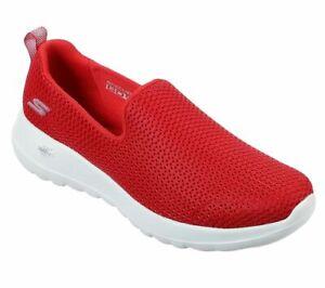 Red Slip On Skechers Shoe Go Walk Joy