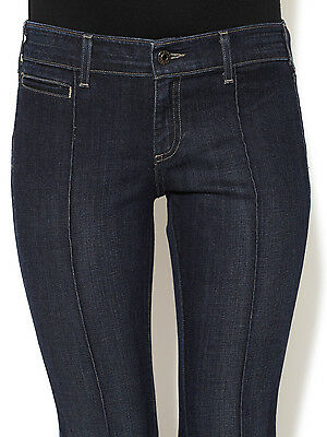 AG Adriano Women Jeans Goldschmied Mia Pintuck Slim Fit Low-rise Flare Blu 26x34