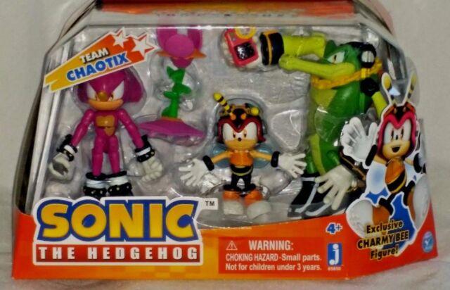 Sonic Hedgehog Team Chaotix 3 Pack Set Action Figures Exclusive Charmy Bee Espio Ebay