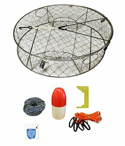 KUFA Stainless Steel Crab Trap  with Zinc Anode & accessory kit  (CT100+CAS1)  cheap sale