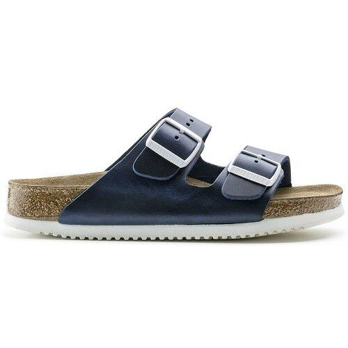 BIRKENSTOCK Sandale Arizona 230174 blau normal blue Leder Weichbettung Superlauf normal blau ec1714