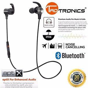 780d6c2c997 Image is loading Bluetooth-Headphones-TaoTronics-Wireless-Magnetic-Earbuds -aptX-Stereo-
