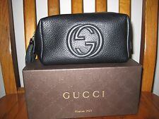 GUCCI SOHO BLACK LEATHER COSMETIC CASE