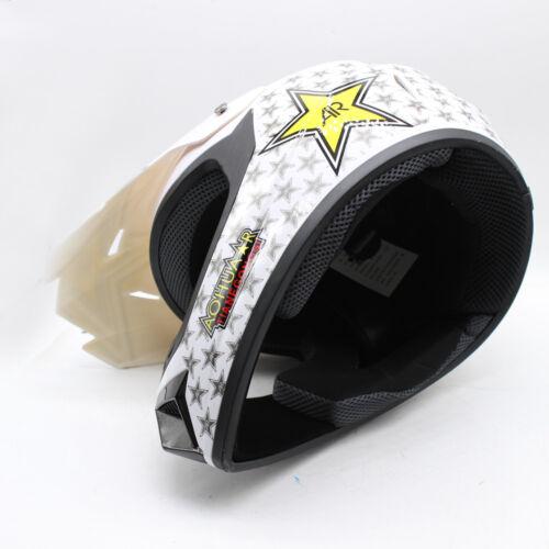 DOT Youth Kids ATV Motocross Dirt Bike Skull Helmet ABS with Goggles Gloves~M,L