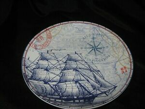 222-FIFTH-PORT-TOWNSAND-CLIPPER-SALAD-PLATES-SET-OF-4-NEW