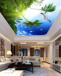 3D Tropical Scenery 74 Ceiling Wall Paper Print Wall Indoor Wall Murals CA Lemon