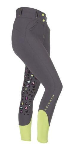 Shires Aubrion Childs Leopard Print Breeches in Grey