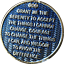 3 Year AA Medallion Reflex Dusty Blue Gold Plated Sobriety Chip Coin III Three
