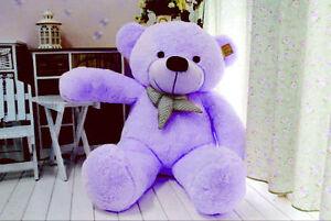 Hot-100cm-Huge-Purple-Teddy-Bear-Soft-Plush-Doll-Stuffed-Giant-Big-Toy-Xmas-Gift