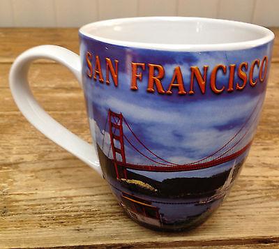 Coffee Mug San Francisco Souvenir City California Golden Gate Bridge Photos Big Ebay