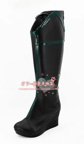Thor Ragnarok Cosplay Hela Leather Boots Shoes Custom Made FF.1569