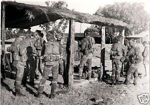 B/&W Photo Rhodesian Armored Car Rhodesia Light Infantry  FN FAL RLI Zimbabwe