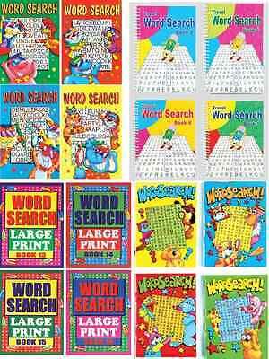 4 Wordsearch Puzzle Libri A4 A5 A6 Misura Per Adulti & Bambini Parola Finder In Corto Rifornimento