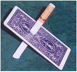 CIGARETTE-THROUGH-BICYCLE-CARD-magic-trick-gaff-playing-deck-pen-pencil-thru