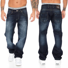 Rock Creek Herren Jeans Hose Denim Blau Straight-Cut Gerades Bein RC-2091