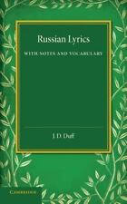 Russian Lyrics: With Notes and Vocabulary, , Very Good condition, Book