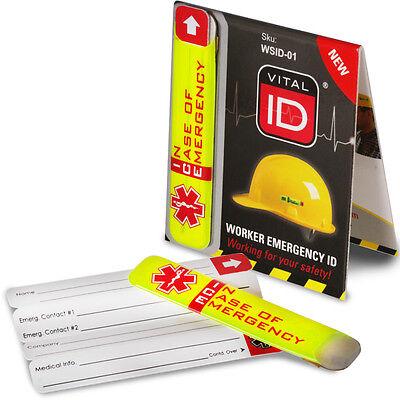 e9f15faa5 Waterproof Hard Hat Reflective Emergency ID ICE SOS Site Worker Details PPE    eBay
