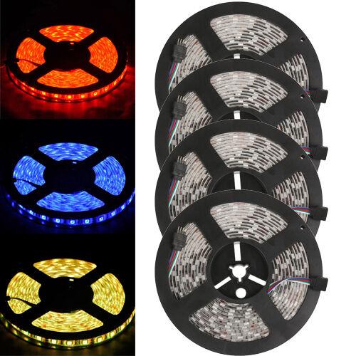 NEW Wholesale 5M/10M/15M/20M Waterproof 5050 RGB SMD Flexible LED Strip 300 Leds