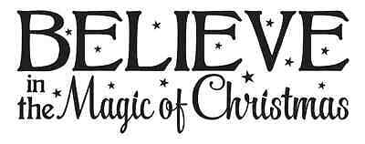 Christmas STENCIL*Believe in the Magic*8X20 for Signs Fabric Canvas Wood Holiday