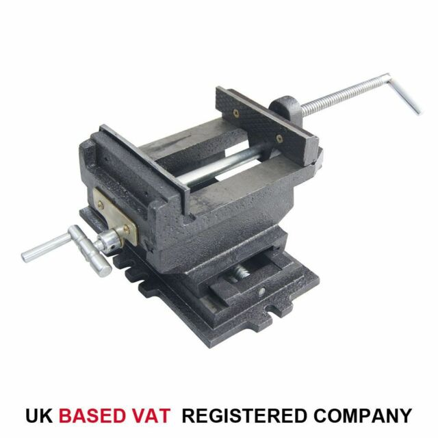 "40228106 Budget Pillar Press Drill Bench Cross Sliding Milling Workshop Vice 6"""
