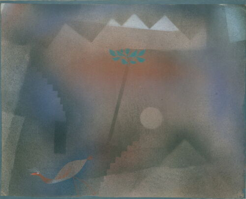 Paul Klee Bird Wandering Off Giclee Canvas Print Paintings Poster Reproduction