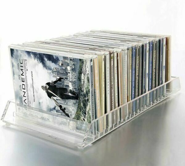Hut Dvd: Decor Hut Cd/dvd Acrylic Organizer Holds 20 CD Or DVDs