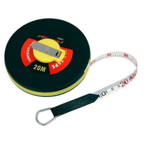 20m Surveyors,Builders Tape Measure Fibreglass Measuring Tape CT3223 Neilsen