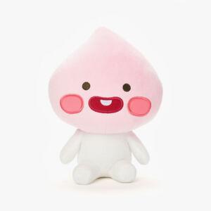 "KAKAO FRIENDS Character Plush Doll Toy Little APEACH 25cm 9.8"" Official Goods"