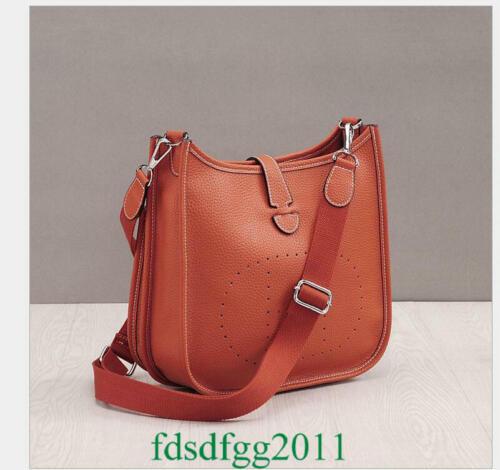 High Quality Women/'s Shoulder Togo Handbag Genuine Litchi Leather Crossbody Bag