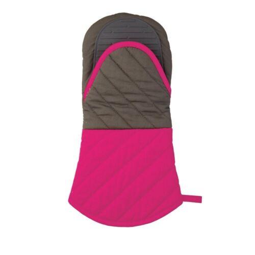 Kitchen Craft Colourworks Cotone e Silicone Oven Mitt Glove-Rosa