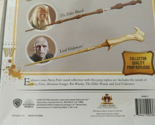 5 Wand Collector Set BRAND NEW SHIP/'S FREE TODAY PRIORITY HARRY POTTER Five