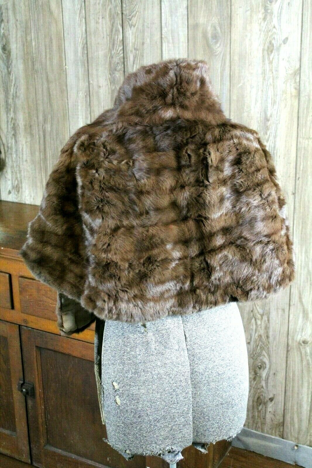 Vintage Goldblatt's Fur Shaw Stole Brown Mink Old… - image 2