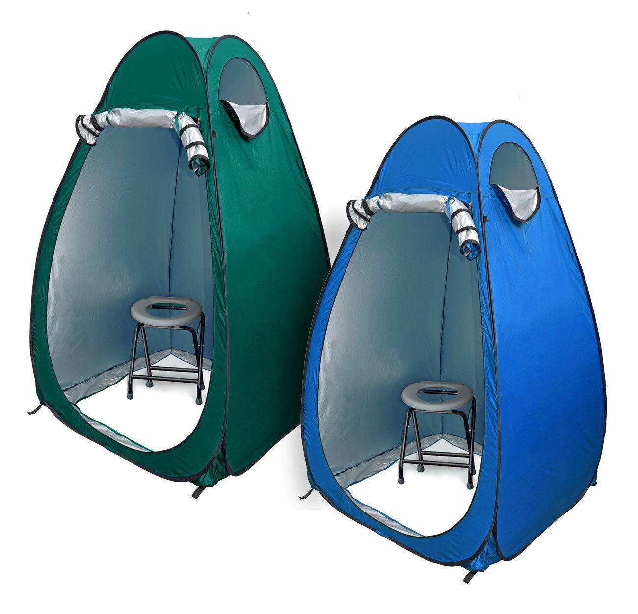 24 Ocean WC borsaNOSet Toilette Pieghevole Grigio popup Tenda duschzelt nello spogliatoio Tenda