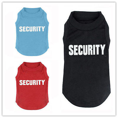 Dog Puppy Cat Kitten Rabbit Large Tshirt Tee Vest Clothes Coat Costume SECURITY