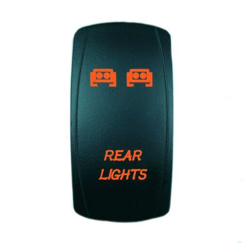 12V 20A ROCKER SWITCH LED REAR LIGHTS ORANGE LASER LED UTV BOAT TRUCK
