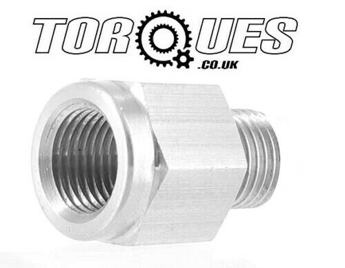 Female to M10x1.0 Male Gauge Take Off Adapter in Stainless Steel AN -3 AN3