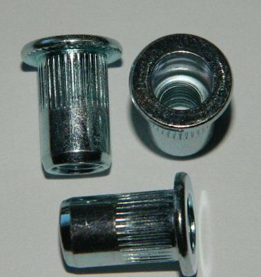 250 Stk Flachkopf Ger 0,5-3,5mm Einnietmutter Buy One Give One Blindnietmuttern M8 Stahl Verz
