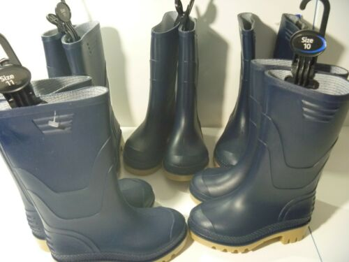 PLAIN NAVY BLUE WELLIES WELLINGTON BOOTS UNISEX BOYS GIRLS NEW UK SIZE 11 NEW