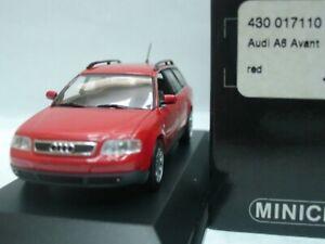 Wow extrêmement rare Audi A6 C5 2.8 30v Avant 1998 rouge 1:43 Minichamps-rs4 / rs6 4012138070820