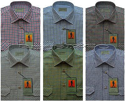 Mens Traditional Country Classics Long Sleeve Check Shirts M - 6XL By Tom Hagan