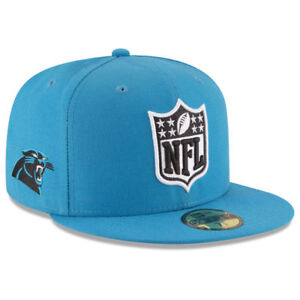 942d718bf Carolina Panthers New Era NFL Shield Team Logo Football Fitted Cap ...