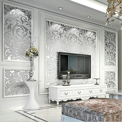 3d Modern Gloss Wallpaper Roll Background For Living Room Bedroom Home Decor Ebay